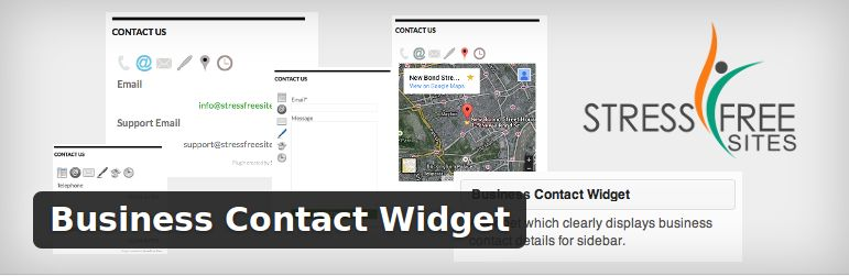 Business contact widget